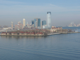 A broad view of Ellis Island and its buildings., kellythepea - October 2010