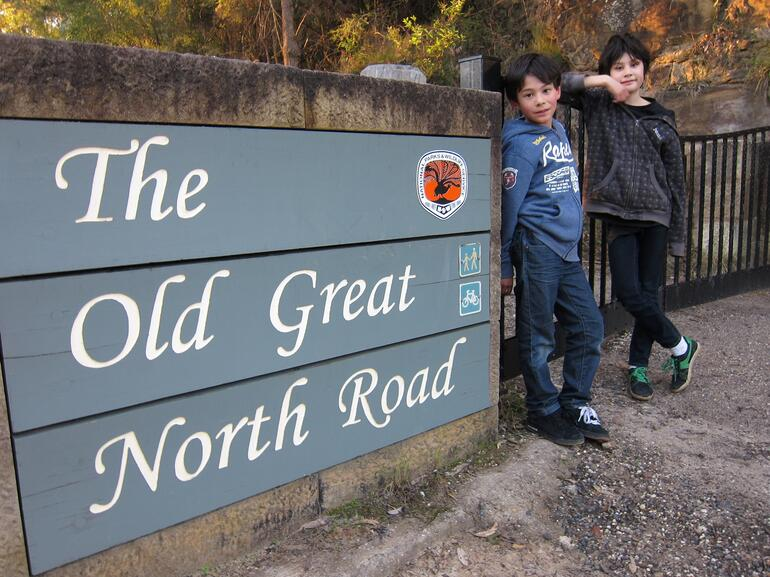 Entrance to The Old Great North Road -