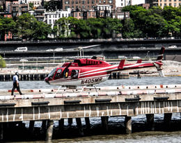 Heliport in Manhattan. Takeoff. , Pavel S - June 2013