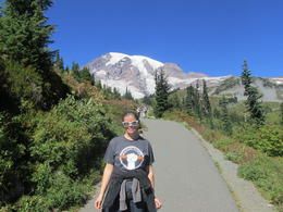 I had packed winter clothes, not knowing what to expect at Mt. Rainier, but it was a beautiful, crystal clear day nearly 80 degrees! , Emily M - September 2014