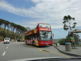 The Cape Town Hop On Hop Off bus at the Table Mountain Cableway Station, Nick - January 2012
