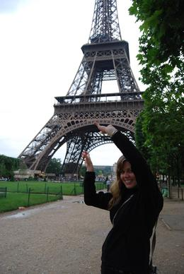 Photo of Paris Eiffel Tower, Seine River Cruise and Paris Illuminations Night Tour Jessica - holding up the Eiffel Tower