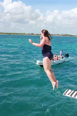 Photo of Cancun Sightseeing, Snorkeling and Dancing Catamaran Cruise from Cancun Jumping off the Dancer