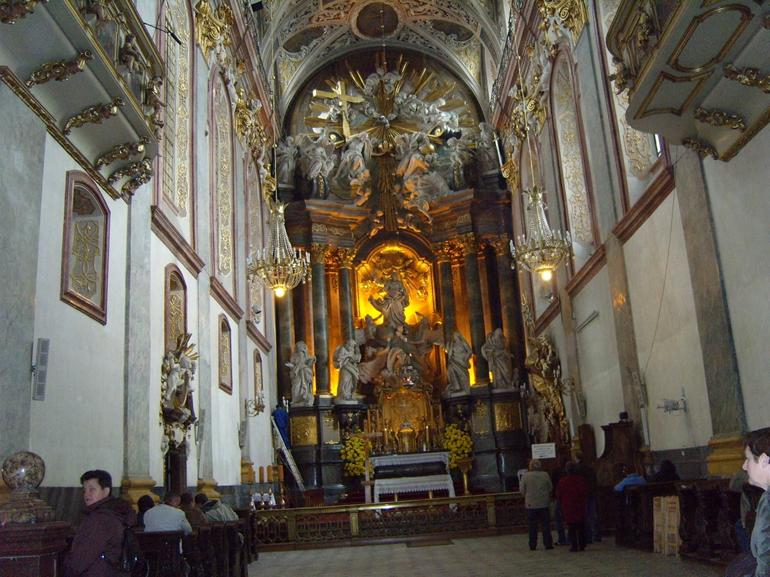 Main altar of extension of church - Krakow