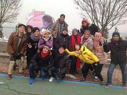 Photo of Seoul Winter Sonata TV Tour on Nami Island from Seoul New friends and us after nami Island.