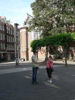 Our guide giving Judith some pointers about Amsterdam., Judith S - October 2009