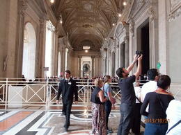 Photo of Rome Skip the Line: Vatican Museums Walking Tour including Sistine Chapel, Raphael's Rooms and St Peter's Outside St. Peters Basilica