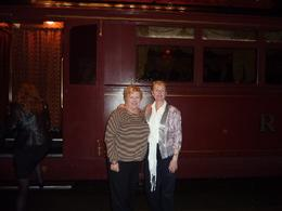 My two friends - Alison & Maureen - when we stopped for a short break between dinner and dessert., Pat W - November 2010