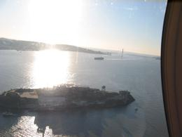 A shot of Alcatraz Island from the window of the helicopter., Global Nomad - February 2008