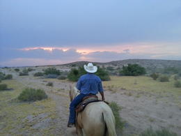 Photo of Las Vegas Wild West Sunset Horseback Ride with Dinner Sunset