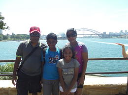 the gerald family in front of the harbour bridge , Gerald Vincent E - January 2014