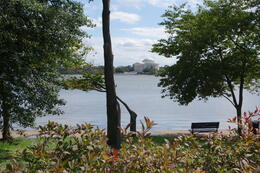 The Jefferson Memorial from across the lake near the M L King Memorial. , Sherry G - October 2014