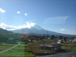 view of Mount Fuji taken from our bus , sharonannelim - December 2014