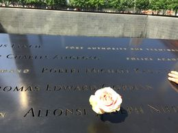 A gripping example of how we will never forget - the birthday of each victim of the 9/11 attack is commemorated by the placing of a rose on their name at 6:00am. , James H - June 2015