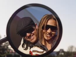 My wife and I at a pit stop for gas., Brian B - September 2010