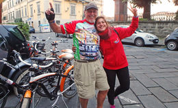 Taken just outside the excellent gelato stop with our lovely and personable guide, Valaria. , RockyDick - July 2015