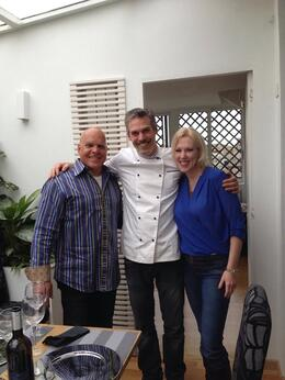 Dominick, Federico, and me , just before sitting down to eat our fabulous food we made. , JANICE R M - April 2014