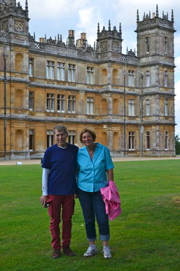 We are just seeing Highclere for the first time in this photo and the view is spectacular. Not only is the castle a beautiful piece of architecture, but the grounds are manicured and the trees are ... , Carol F - September 2013