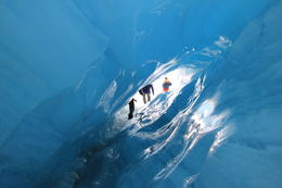 An incredible ice cave that we went through. , newt - October 2011