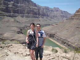 In the Grand Canyon just before the champagne picnic to celebrate our wedding anniversary! , Joshua S - May 2012