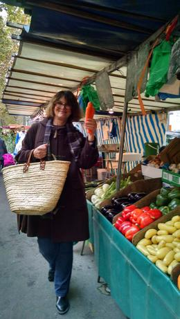 Marthe picked carrots for one of the items we cooked for lunch! , Judy D - November 2014