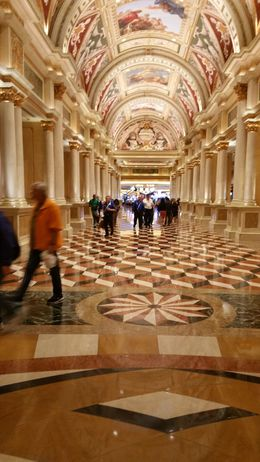 Beautiful ceilings of the Venetian Las Vegas hotel. , ashes - February 2016