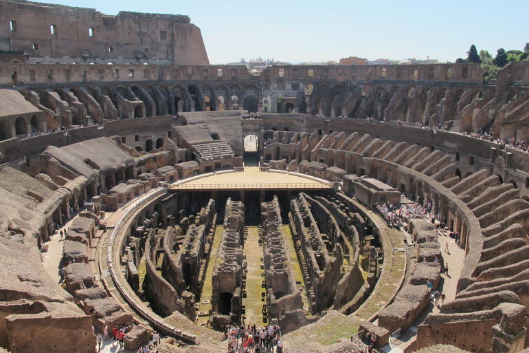 View from the top of the Colosseum - Rome