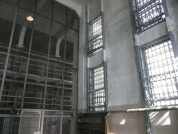 Cell Block - this is where the guards stood, behind wire , Steven B - November 2011