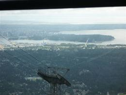 This is going down Grouse Mountain on the gondola, a shot of Vancouver and the Lions Gate bridge., Jennifer H - September 2009