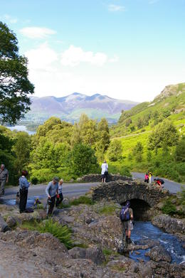 Tourists and locals on a lovely sunny day in July in the Lake District , Marilyn K - August 2011