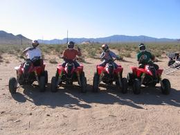 With the ATVs in the Vegas hills. --- Big George, Ennis, Braden and Mike, George W - June 2010