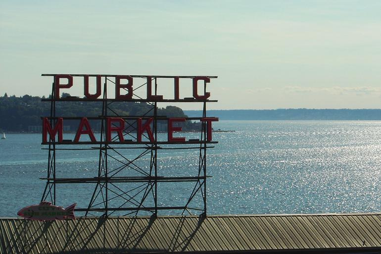 Puget Sound behind Pike Place Market - Seattle