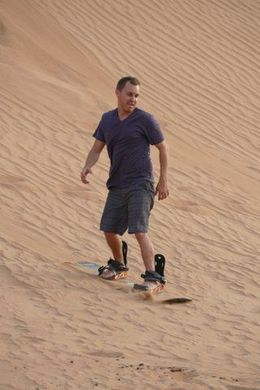 Sandboarding in the Dubai desert , Robert N - August 2015