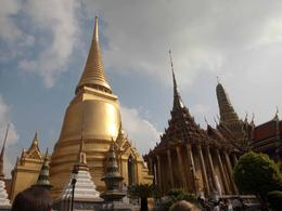 The roof of some of the temples at the Grand Palace are beautiful, yet so different , Jill - November 2011