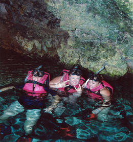 Photo of Cancun Xcaret Day Trip from Cancun Snotkeling in the caves at Xcaret