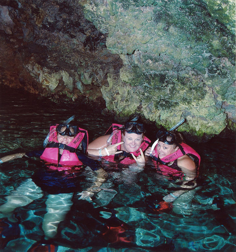 Snotkeling in the caves at Xcaret - Cancun