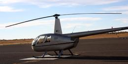 Our helicopter for the flight over Uluru., Vicki P - June 2008