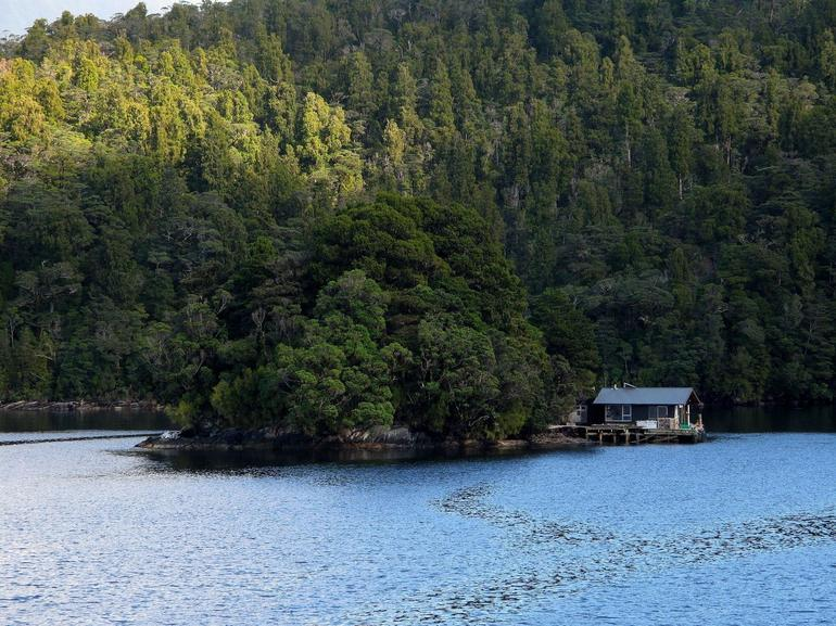 A fishing hut in the sound - Fiordland & Milford Sound