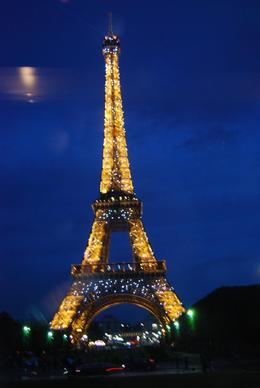 At the end of the evening, the bus driver timed the arrival by the Eiffel Tower to see the lights go off. This is a picture that I took sitting on the left side of the bus. We had a great time on... - June 2008