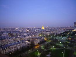 Top of the Eiffel Tower, before dinner. - March 2008