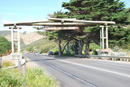 This is the entrance to the Great Ocean Road in memory of the workers that dies during its construction., Stephen P - March 2010