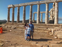 Photo of Athens Athens Super Saver: Acropolis Walking Tour plus Cape Sounion and Temple of Poseidon Half-Day Trip In front of the Temple of Poseidon (Sounion afternoon)