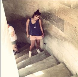 Me, finally in the Leaning Tower of Pisa. I hoped the picture would be more fabulous, but it was HOT outside. : Very cool experience, the tower is beautiful. , laurasassano - July 2015