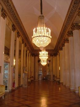 We were on our tour in the lobby of the La Scala opera theater in Milan., Amelia R - December 2007