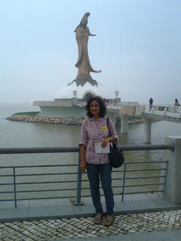 My wife appearing in front of one of several historic sights witnessed by us in Macau. , Parag K - May 2012