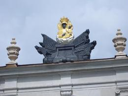 Statue of Black Madonna on roof at Jasna Gora Monastery by Norah D., Norah D - June 2008