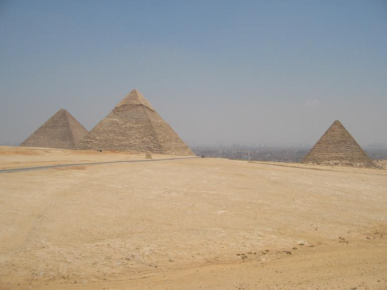 PYRAMIDS FROM PLATEAU - Cairo