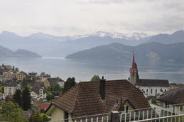 As you travel through the countryside the views are stunning in every direction. This is lake Lucerne , Heather C - June 2012