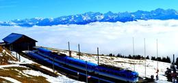 Photo of Zurich Mount Rigi Winter Day Trip from Zurich The blue cogwheel that got us on top of the mountain