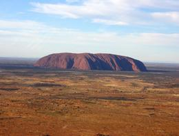 Views of Uluru are stunning from the helicopter., Vicki P - June 2008